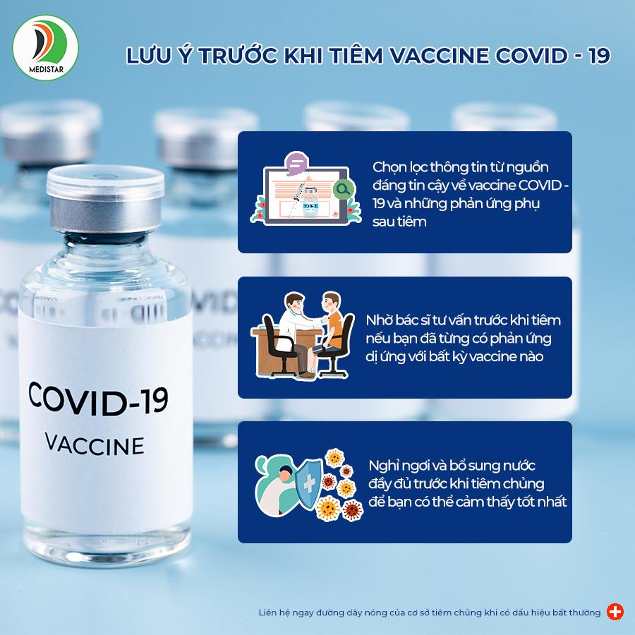 những lưu ý trước khi tiêm vaccine phòng covid - 19